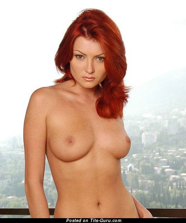 Image. Red hair with natural tittys image