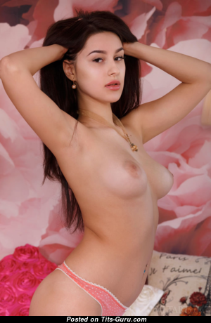 Angelina Socho - Lovely American Brunette with Lovely Defenseless Real Boobys (Xxx Image)