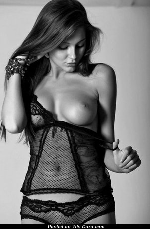 Sexy topless awesome girl with medium tittes image