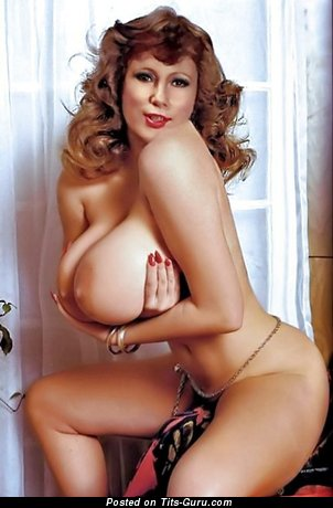 Cute Topless Playboy Blonde Babe with Cute Naked Substantial Breasts (Vintage Xxx Wallpaper)