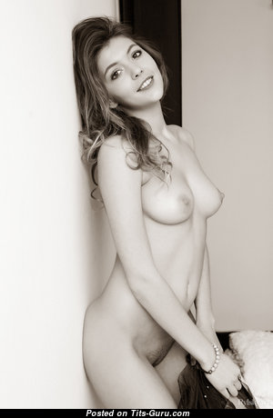 Monika Dee - Sweet Topless Babe with Sweet Open Natural Medium Sized Boobys & Erect Nipples (Hd Xxx Image)