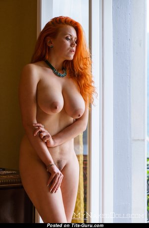 Lillith Von Titz - Delightful Topless Russian Red Hair with Delightful Naked Real Ddd Size Breasts (Hd Porn Wallpaper)