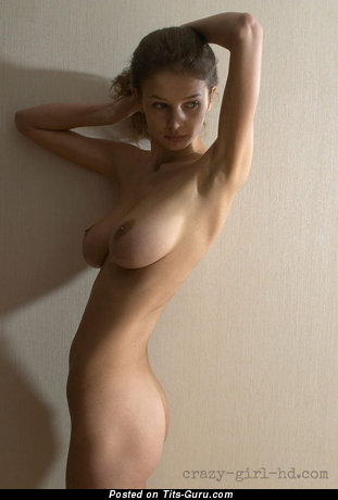Pleasing Wet Playboy Blonde Babe with Pleasing Nude Natural Soft Melons & Inverted Nipples (Private Sexual Pix)