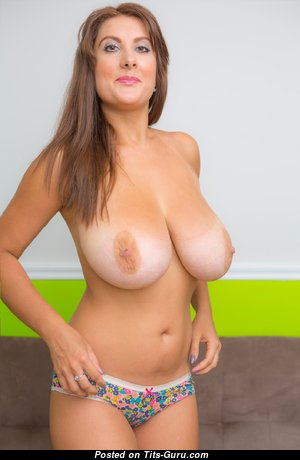 Milf - The Best Topless Housewife with The Best Open Natural Chest in Bikini (Hd Porn Image)