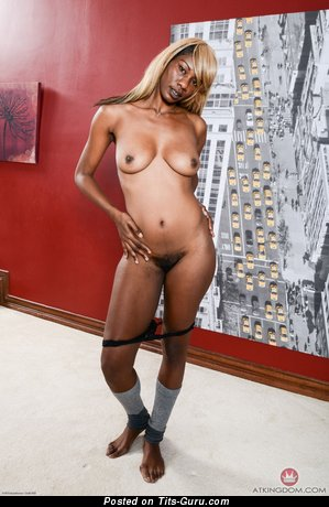 Desire - sexy nude ebony blonde with medium natural boobies picture