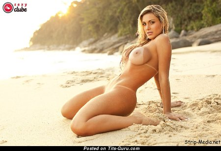 Andressa Urach - Delightful Brazilian Blonde with Delightful Bare Silicone Med Hooters (Hd Sexual Wallpaper)