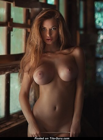 Alluring Babe with Alluring Naked C Size Breasts (Sexual Picture)