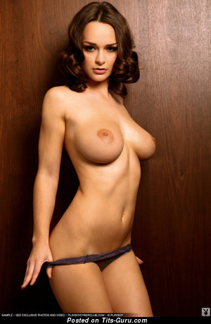Image. Sexy topless brunette with natural tittys and big nipples image