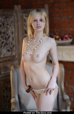 Image. Naked wonderful lady with medium natural boobs picture