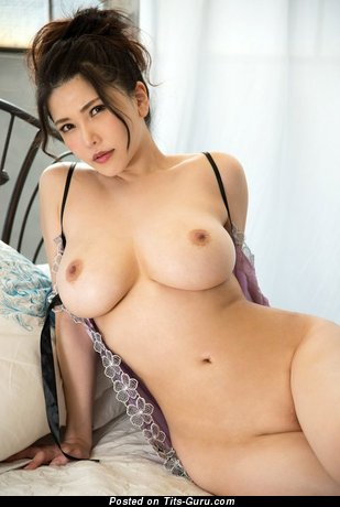 Anri Okita - Graceful Topless Japanese, British Brunette Pornstar with Graceful Bald Natural C Size Boobs (Sex Pic)