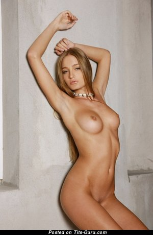Image. Nude nice girl with medium natural breast photo