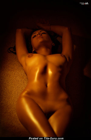 Image. Nude hot lady with medium natural boobies photo