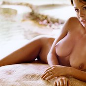 Brooke Burke - brunette with medium tots photo