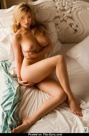 Image. Nude nice female with medium natural boobies photo