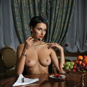 Nastya Dym - brunette with big natural breast image