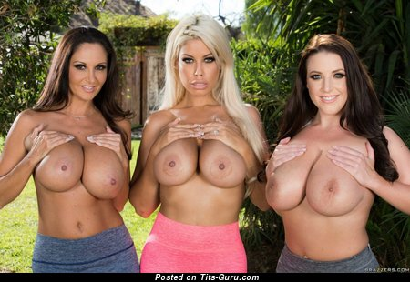 Image. Angela White,ava Adams And Bridgette B - naked blonde with huge tittes picture