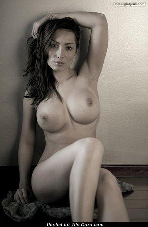 Image. Naked amazing female with big fake boobies pic