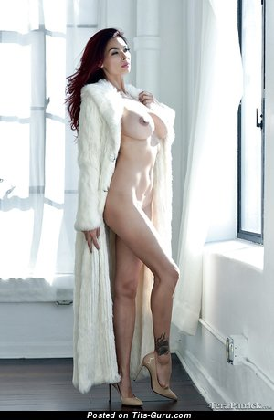 Tera Patrick - Yummy Topless American Brunette Babe with Yummy Naked D Size Jugs & Weird Nipples (Sex Picture)