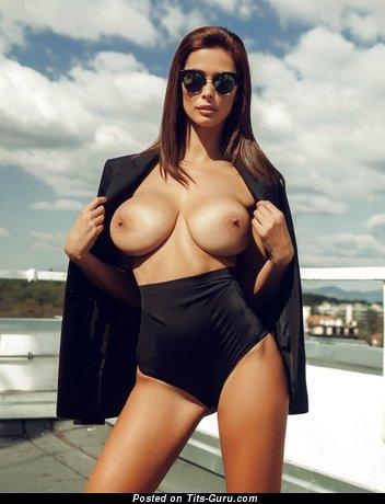 Bilyana Evgenieva - Appealing Topless Bulgarian Babe with Appealing Defenseless Natural Regular Tots (18+ Wallpaper)