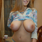 Hot woman with big natural tittes image