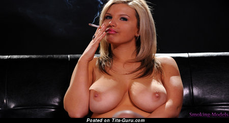Splendid Unclothed Moll is Smoking (Hd Sexual Pix)