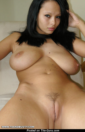 Image. Dominno - sexy naked brunette with medium natural boobies photo