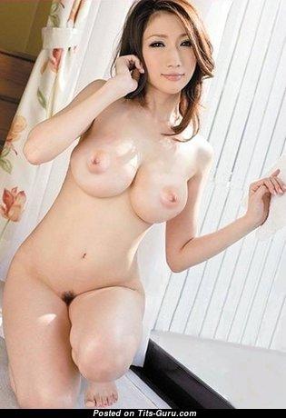 Julia Boin - Marvelous Japanese Brunette Pornstar with Marvelous Defenseless Dd Size Busts (Porn Photoshoot)