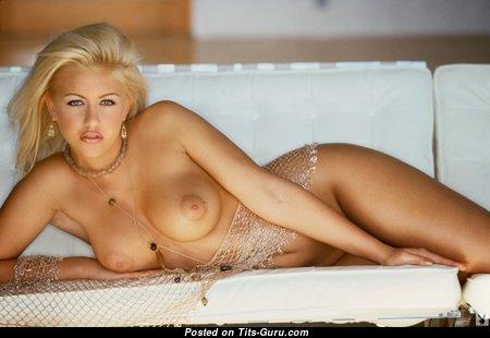 Anka Romensky - Gorgeous Ukrainian Playboy Blonde with Gorgeous Defenseless Fake Tots (Hd Porn Wallpaper)