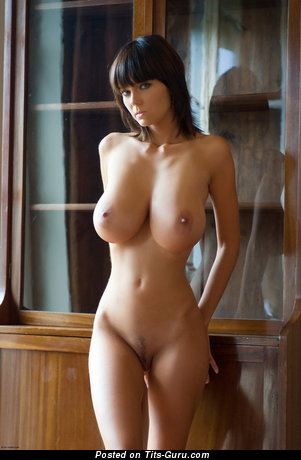 Image. Gabrielle - sexy nude brunette with huge natural boobies photo