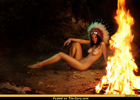 Image. Naked hot female with medium natural boobies picture