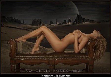 Image. Ashley Kimel - sexy topless amateur beautiful woman with medium boobies pic