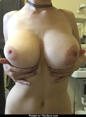 Handsome Topless Miss with Handsome Nude Mega Boobys & Huge Nipples (Home Hd Sexual Image)