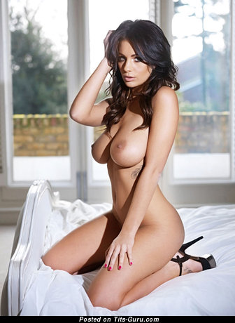 Image. Sexy nude brunette with big natural breast pic