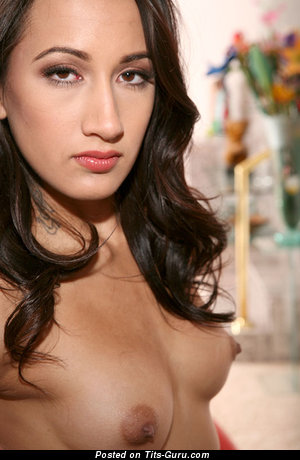 Image. Amia Miley - nude amazing female with small natural tittes and big nipples picture