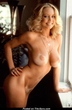Kim Malin - Pretty Playboy Blonde with Pretty Nude C Size Hooters & Tan Lines (Sexual Pic)
