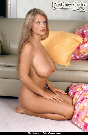 Image. Ines Cudna - nice woman with huge natural boobs image