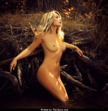 Image. Naked hot lady with medium natural boobs pic