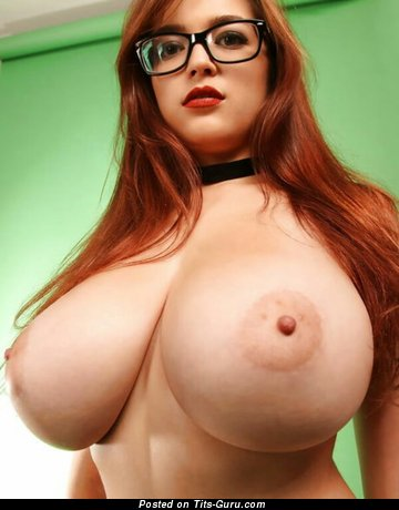 Tessa Fowler - The Nicest Topless American Red Hair Babe & Pornstar with Pleasing Naked Natural Mammoth Boobies & Long Nipples (18+ Photoshoot)