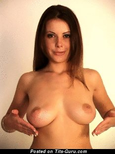 Image. Naked hot lady with medium natural tots gif