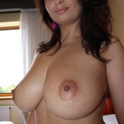 Nice lady with big natural tits image