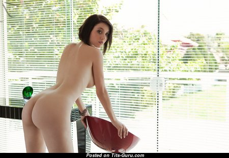 Awesome Glamour Unclothed Brunette (Hd Porn Pix)