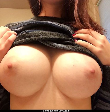 Hot Topless Lady with Hot Bare Mid Size Tittys (on Public Selfie 18+ Wallpaper)