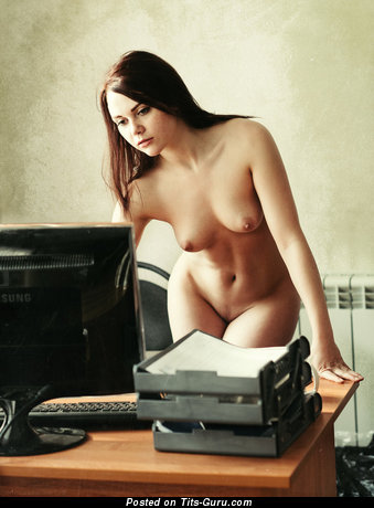 Image. Nude hot lady with medium natural tits photo