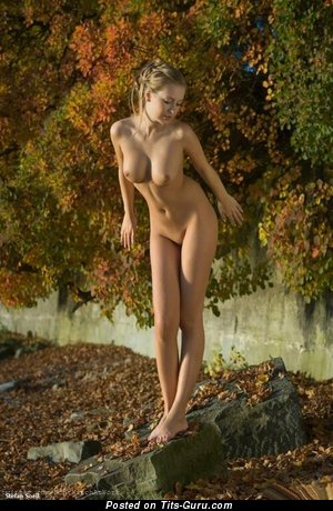 Naked beautiful lady with medium natural boobs pic