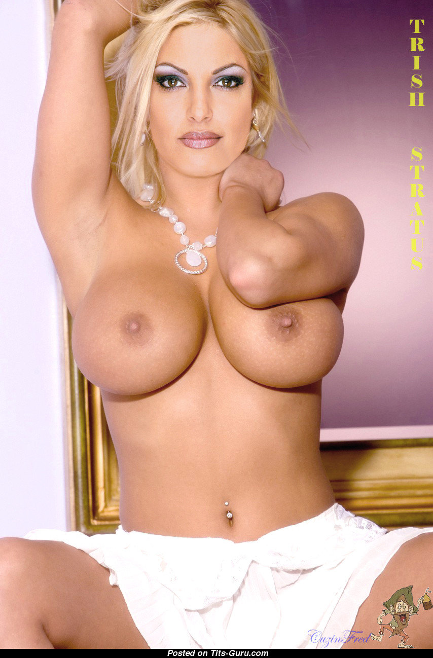 Trish Stratus - Asien blondine med Open Fake Firm Balloner-9728