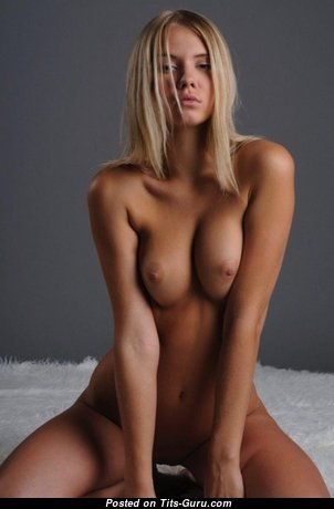 Yummy Blonde Babe with Yummy Naked Real Medium Busts (Xxx Wallpaper)
