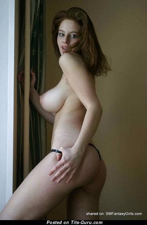 Image. Ester - nude brunette with big natural tots photo