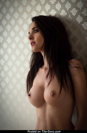 Bianka - Charming Brunette with Charming Bare Dd Size Chest (Hd Sex Image)