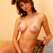 Katia Galitsin - wonderful woman with medium natural tittes photo