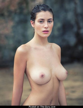 Alejandra Guilmant - sexy naked brunette with medium natural tots image